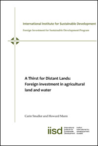 A Thirst for Distant Lands: Foreign investment in agricultural land and water